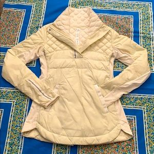 LULULEMON CREAM WHAT THE FLUFF QUILTED PULL OVER